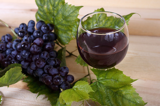 Wine And Grape Stock Photo - Download Image Now