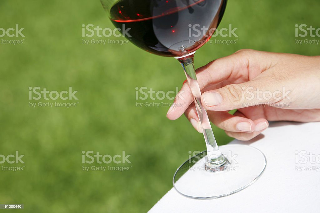 Wine and Hand royalty-free stock photo
