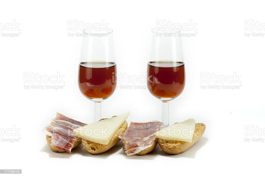 wine and snack stock photo