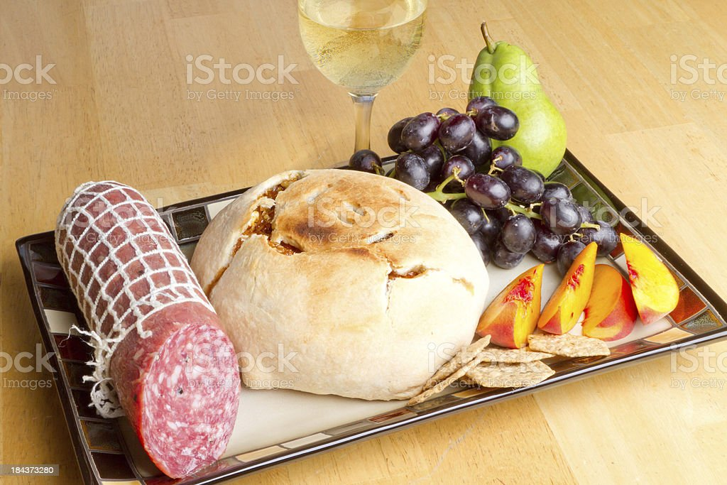 Wine and snacks royalty-free stock photo