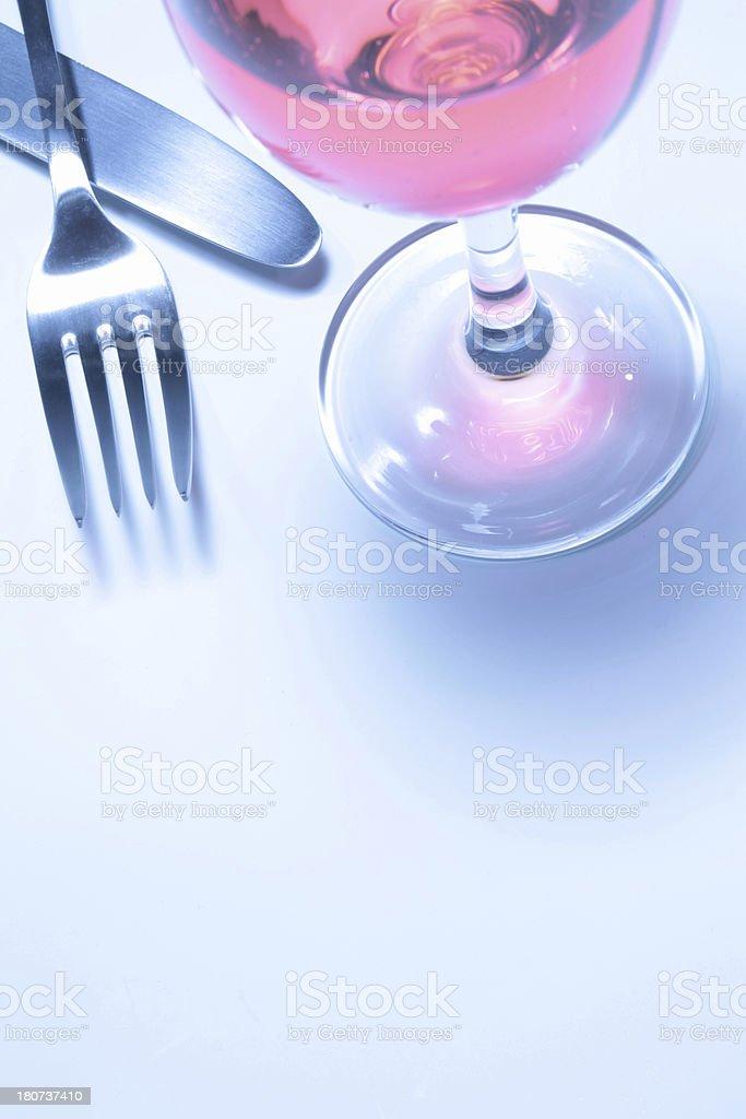wine and utensil royalty-free stock photo
