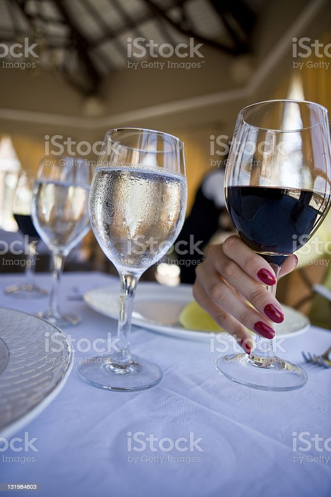 Wine and Water royalty-free stock photo