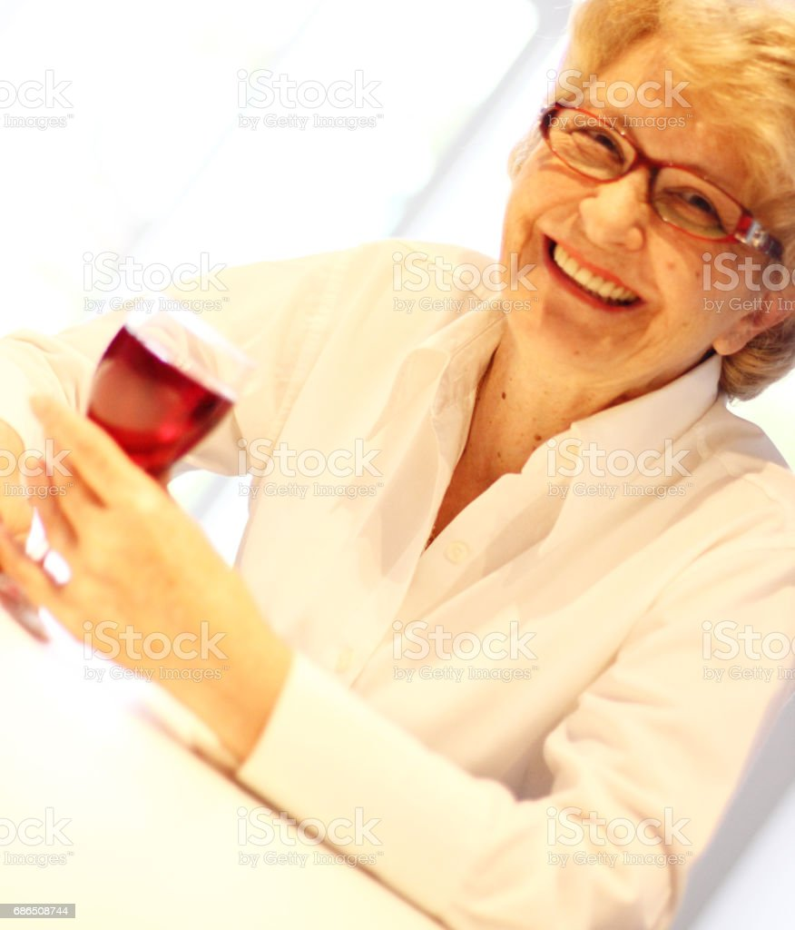 Wine and woman foto stock royalty-free