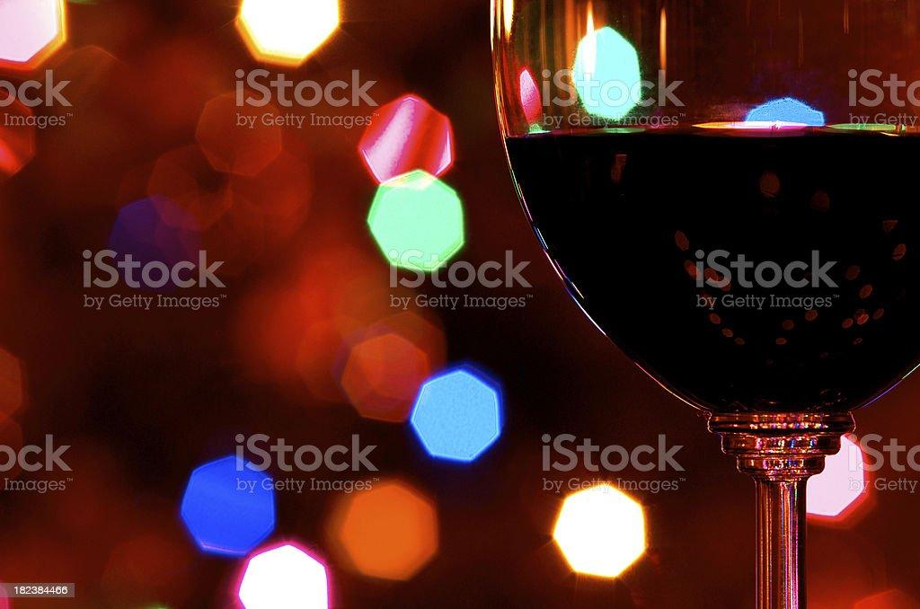 Wine at Christmas royalty-free stock photo