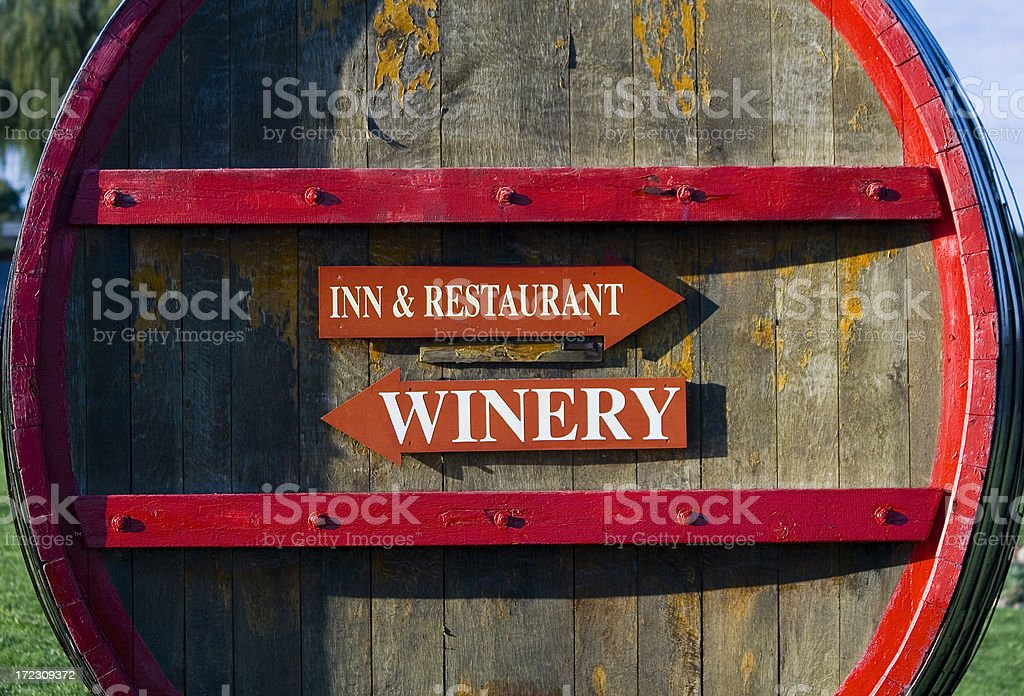 Wine Barrel Arrows 2 stock photo