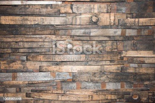 istock Wine Barrel Strip Background 1068965448