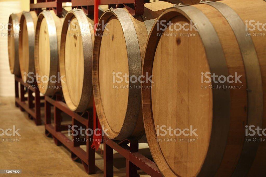 Wine Barrels at micro winery royalty-free stock photo