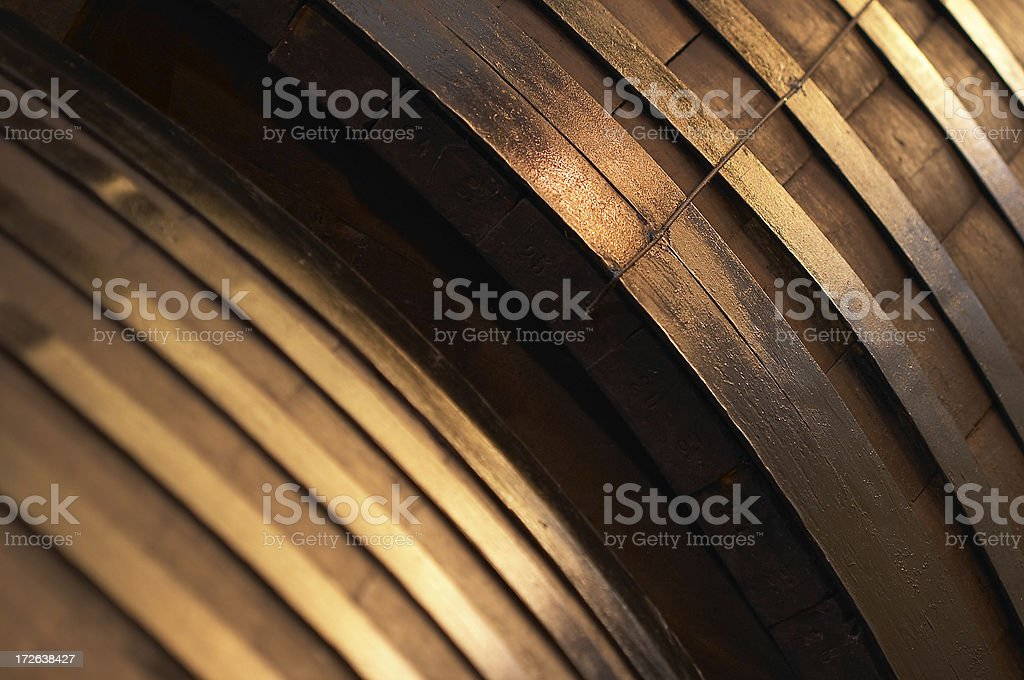 wine barrels detail stock photo