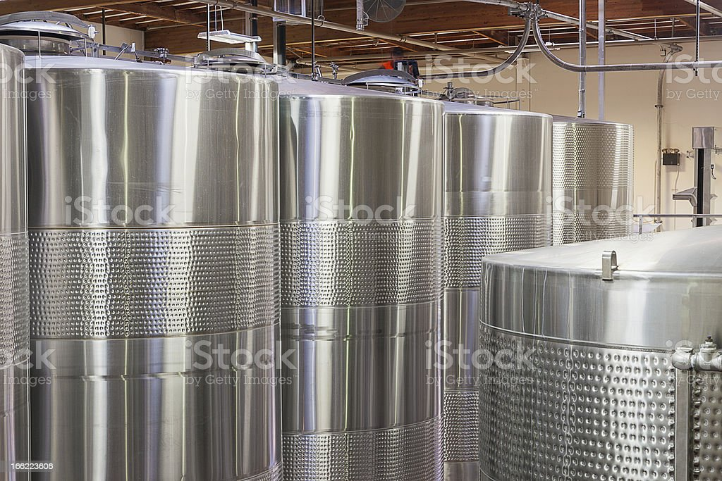 Wine barrels in Storehouse royalty-free stock photo