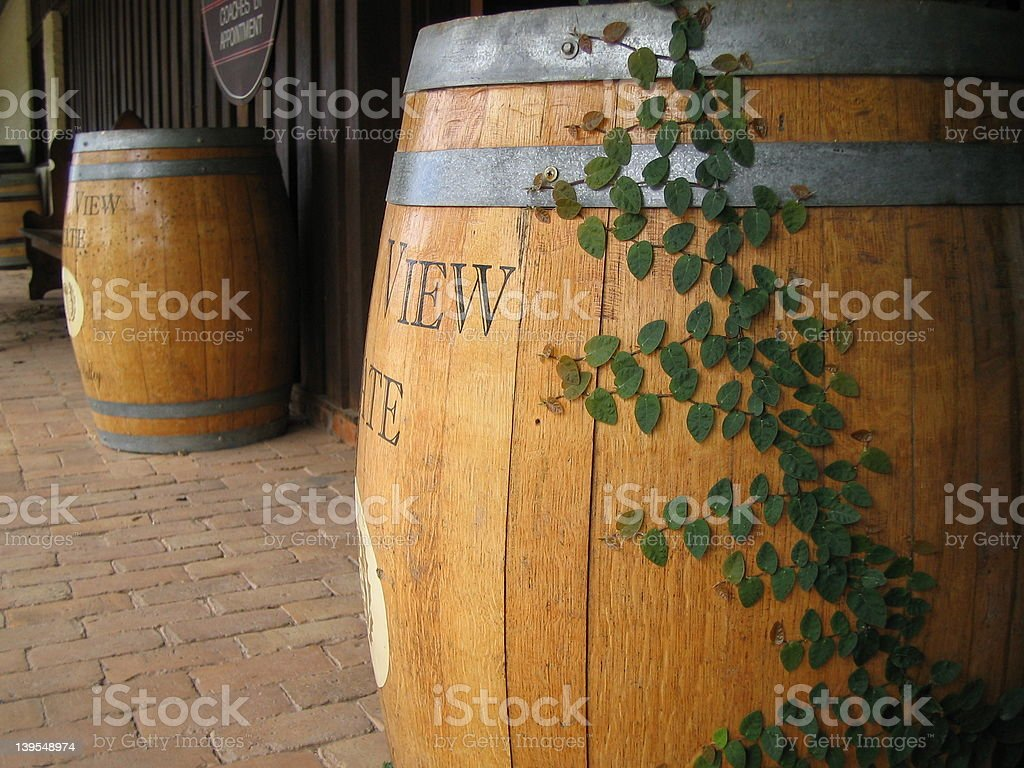 Wine Barrels in the Hunter Valley royalty-free stock photo