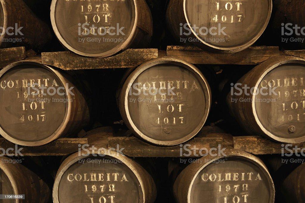 Wine barrels ( Port ) stock photo