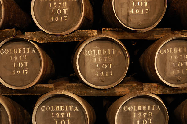 Wine barrels ( Port ) stock photo