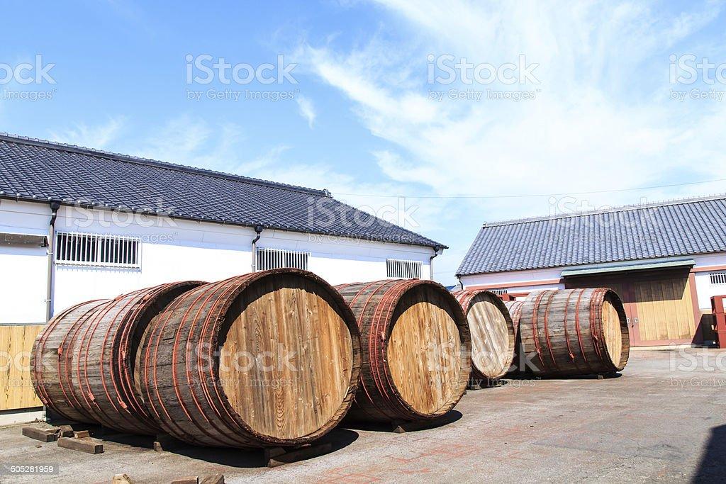 Weinfässer in – Foto