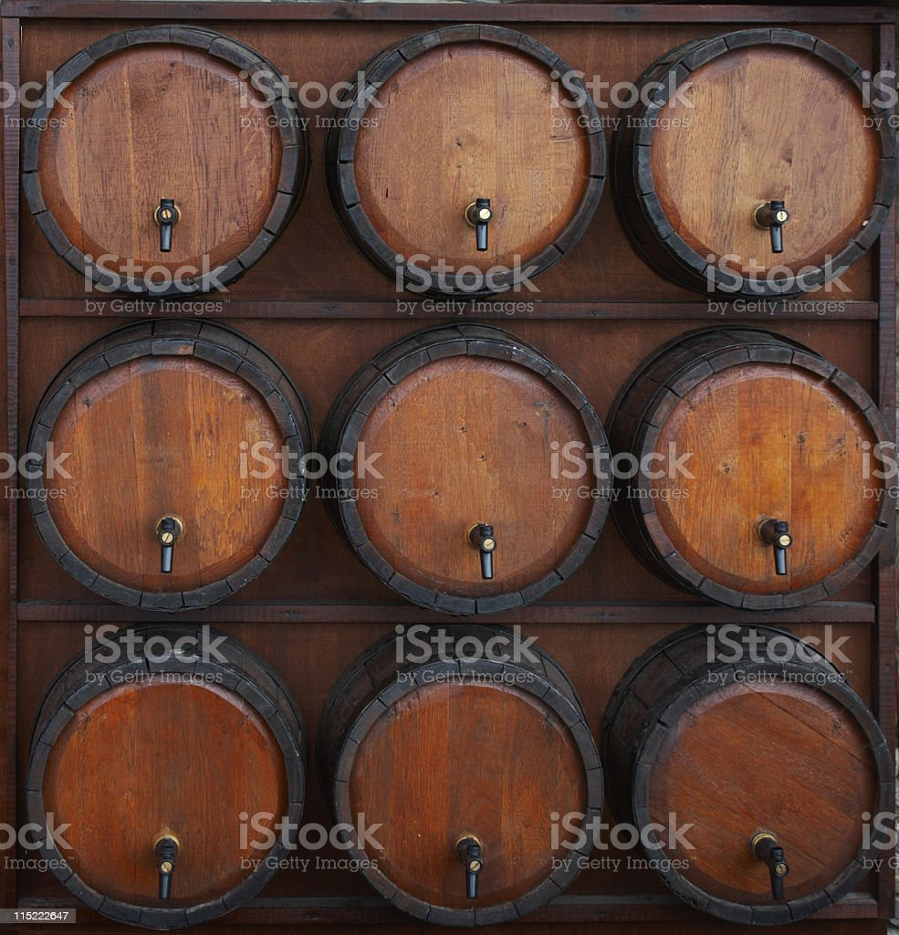 wine barrels stand royalty-free stock photo