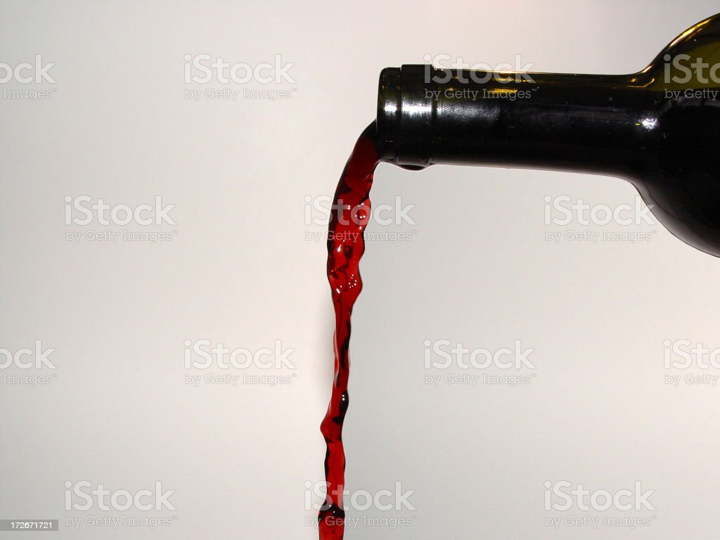 Wine Being Poured royalty-free stock photo