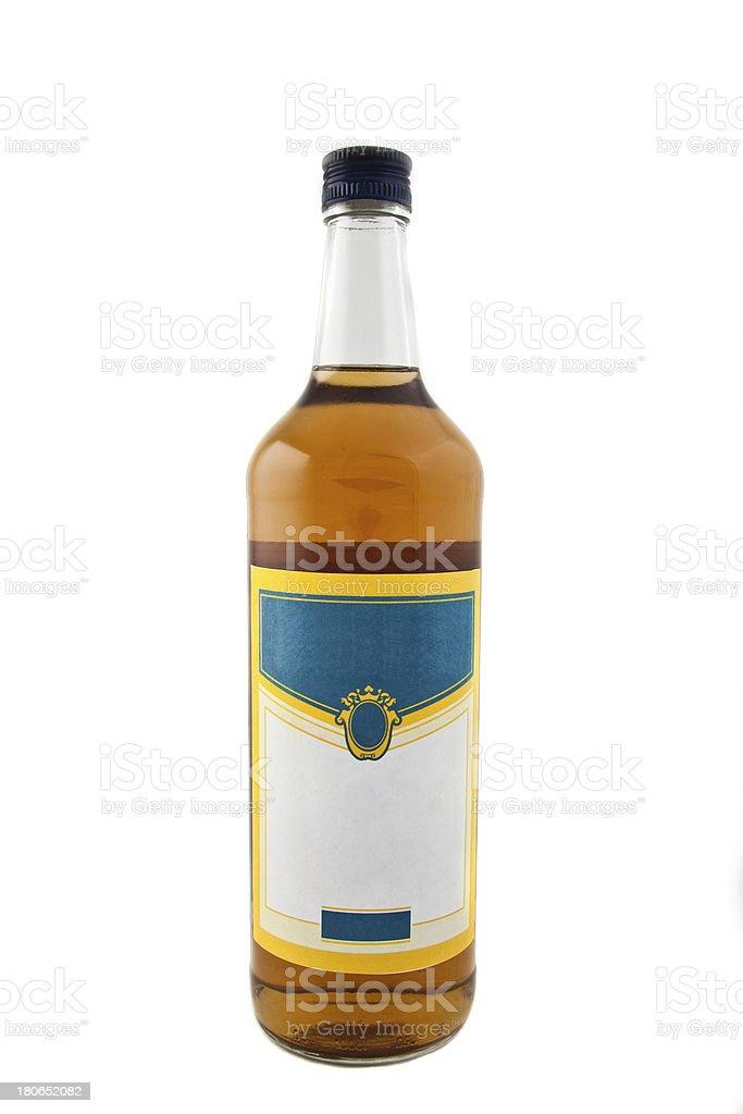wine bottle isolated over white background royalty-free stock photo