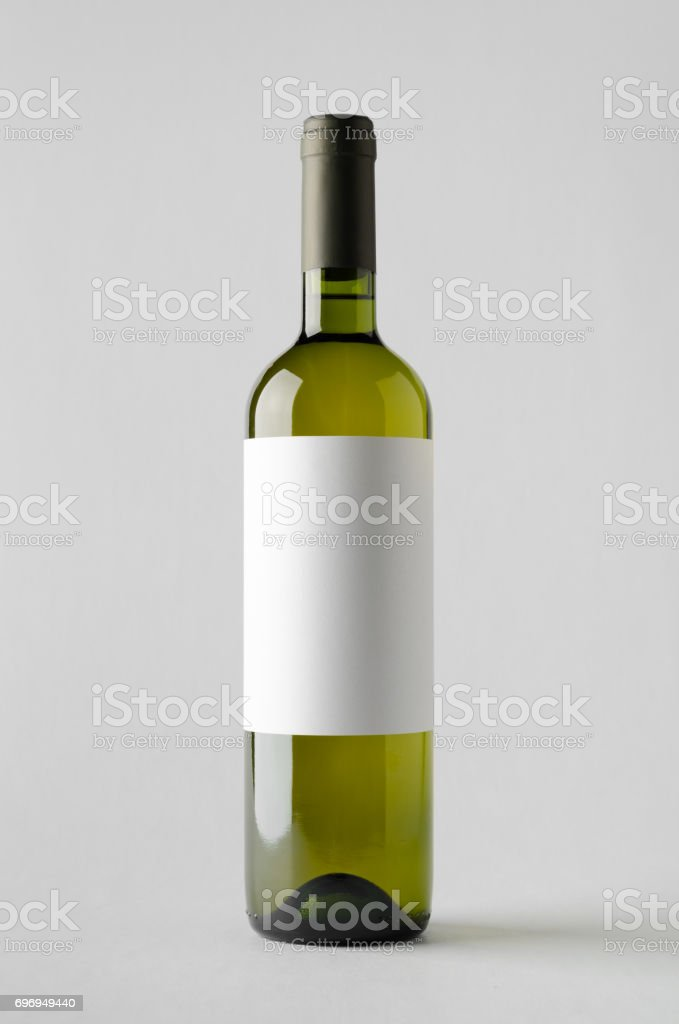 Wine Bottle Mock-Up. Blank Label stock photo
