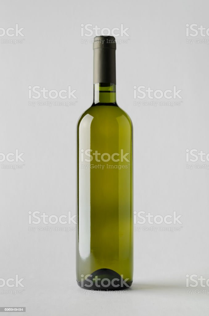 Wine Bottle Mock-Up stock photo