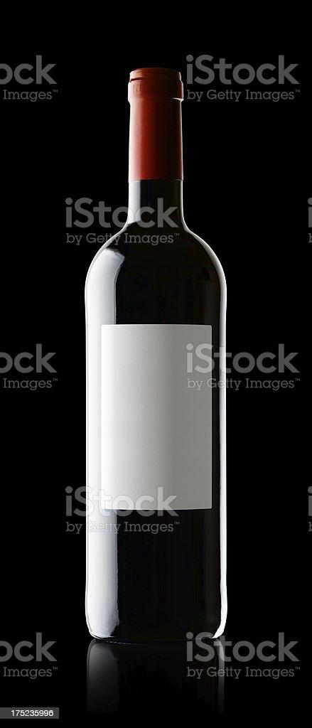 Wine Bottle on Black royalty-free stock photo