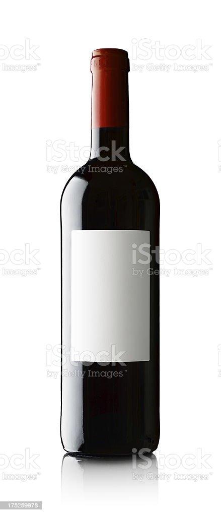 Wine Bottle on White royalty-free stock photo
