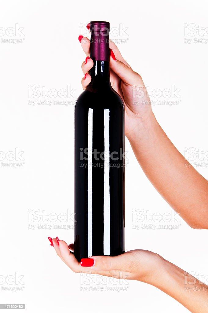 Wine bottle. royalty-free stock photo