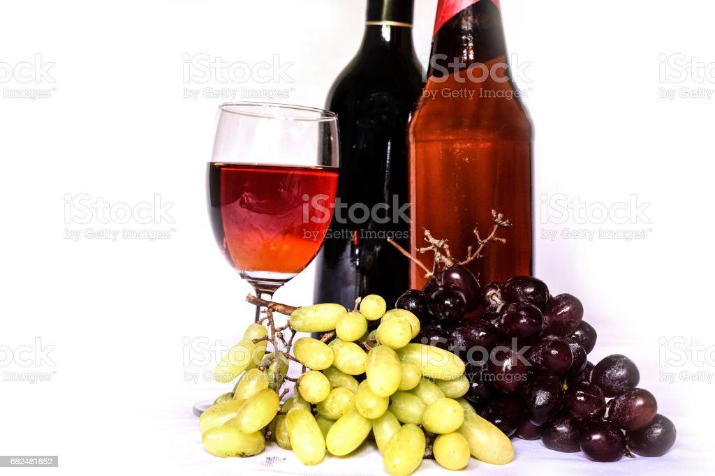Wine bottle foto de stock libre de derechos