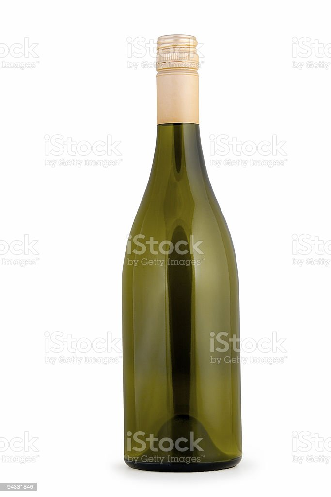 Wine Bottle (clipping path) stock photo