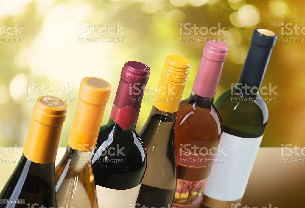 Wine Bottle, Wine, Bottle stock photo