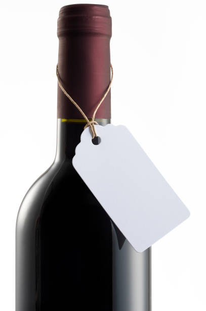 Wine bottle with Label stock photo