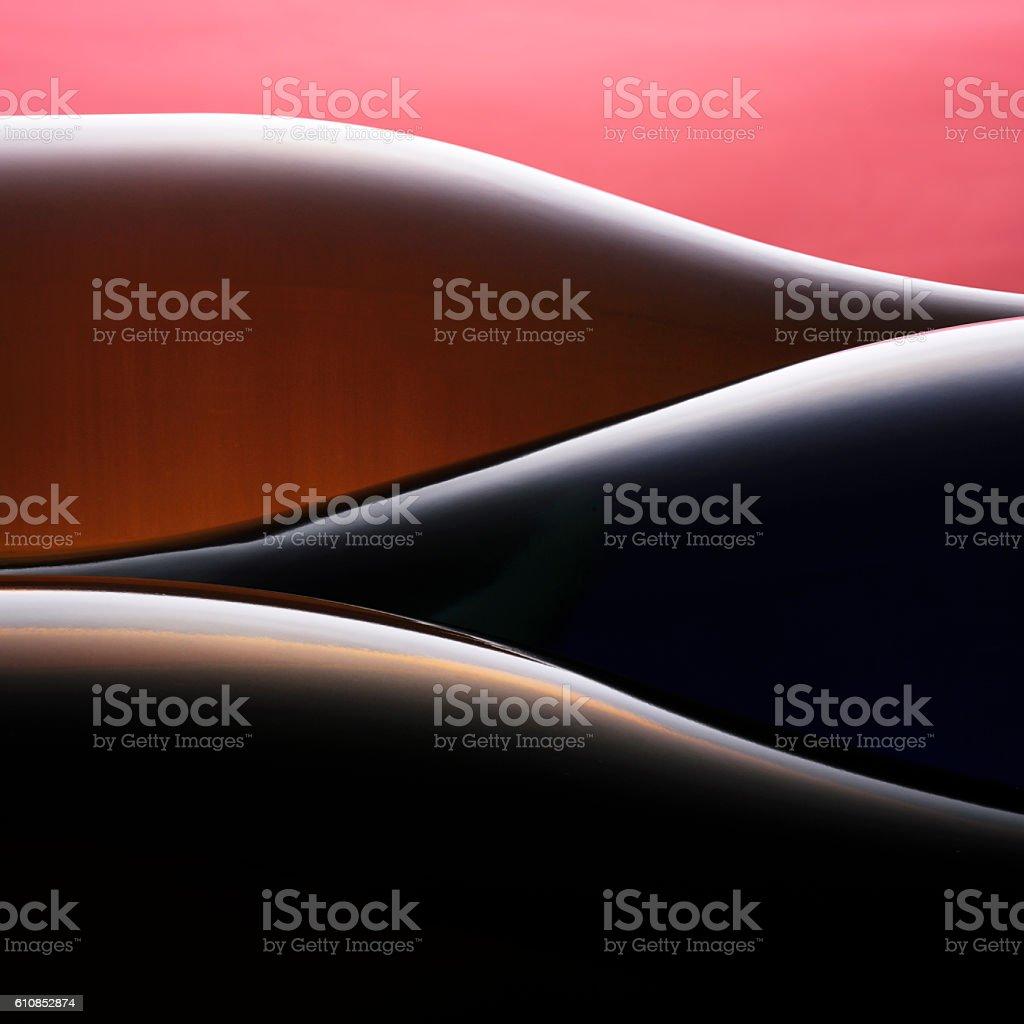 wine bottles abstract stock photo