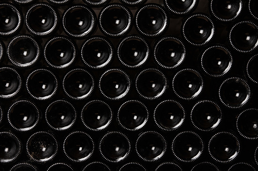 istock Wine bottles as a background 534641529