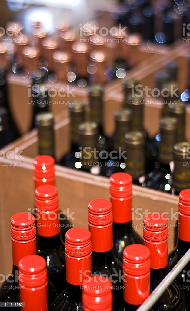 Wine Bottles in a shop royalty-free stock photo