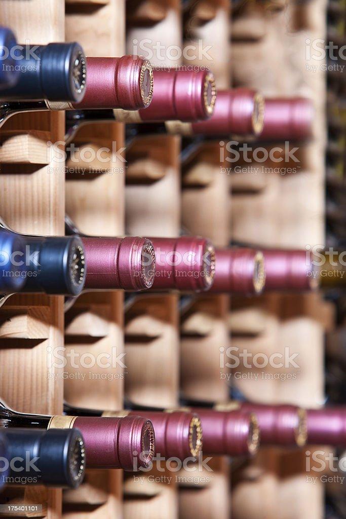 Wine Bottles In Cellar royalty-free stock photo