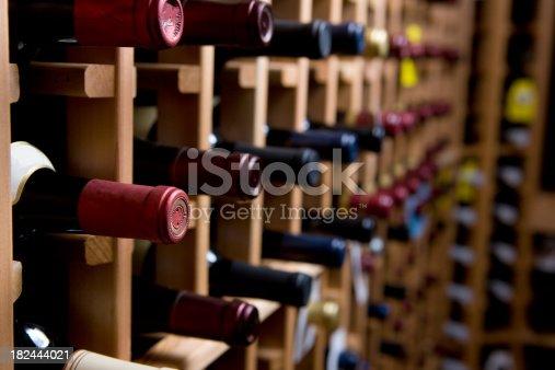 Wine BottlesIn Cellar