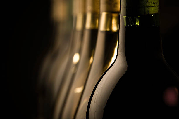 wine bottles - halbergman stock pictures, royalty-free photos & images