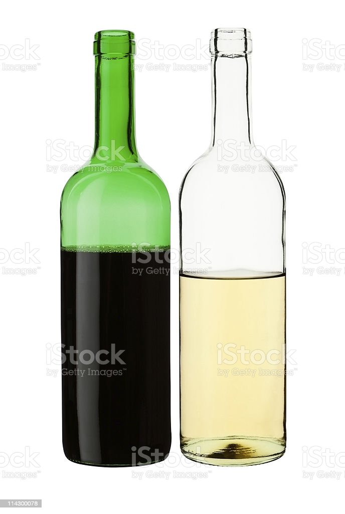 Wine bottles. stock photo