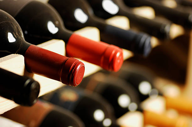 Wine bottles  cellar stock pictures, royalty-free photos & images