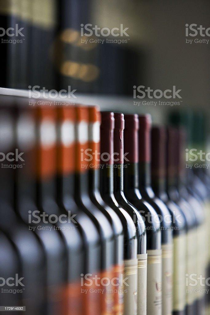 Wine bottles royalty-free stock photo