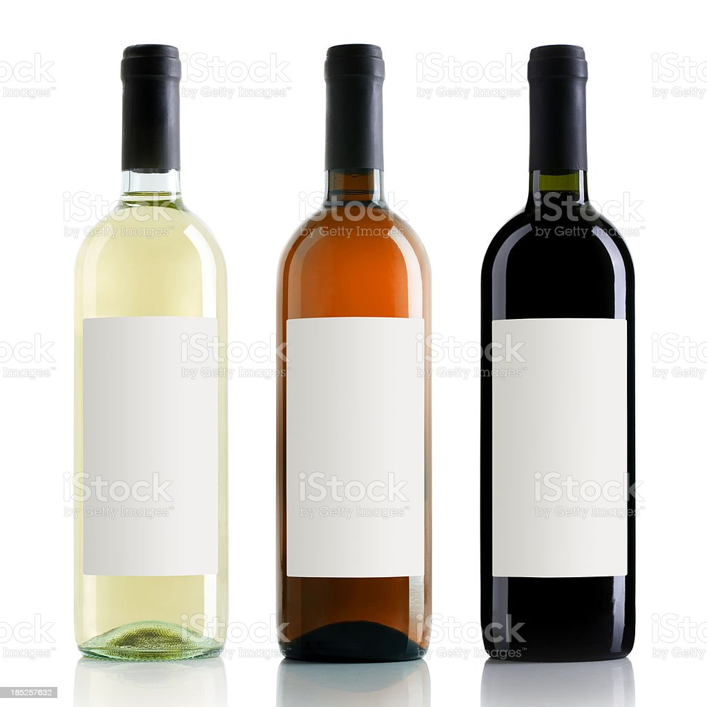 Wine bottles royalty-free stock photo