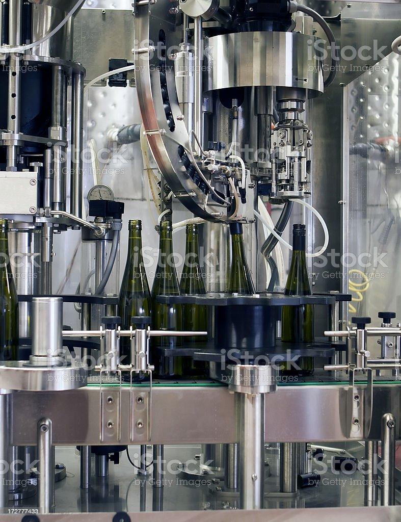 Wine Bottling royalty-free stock photo