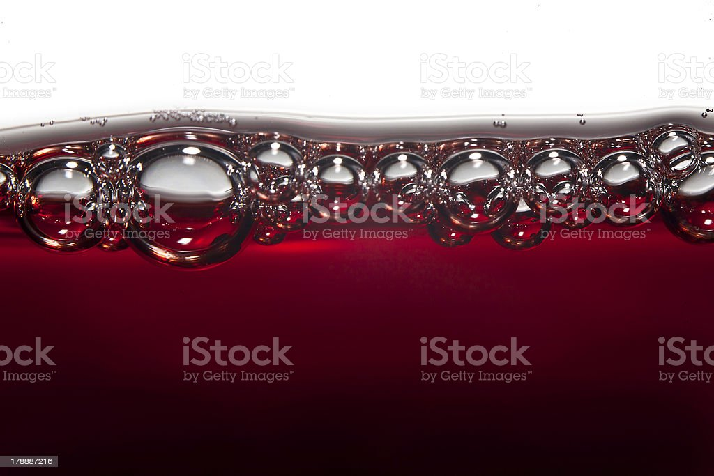 Wine bubbles royalty-free stock photo