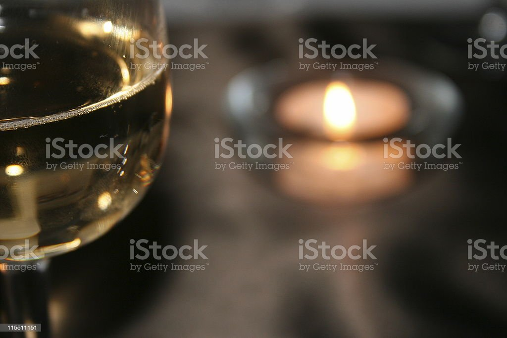 Wine by Candlelight royalty-free stock photo