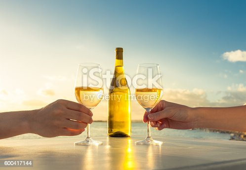 istock Wine by the sea 600417144