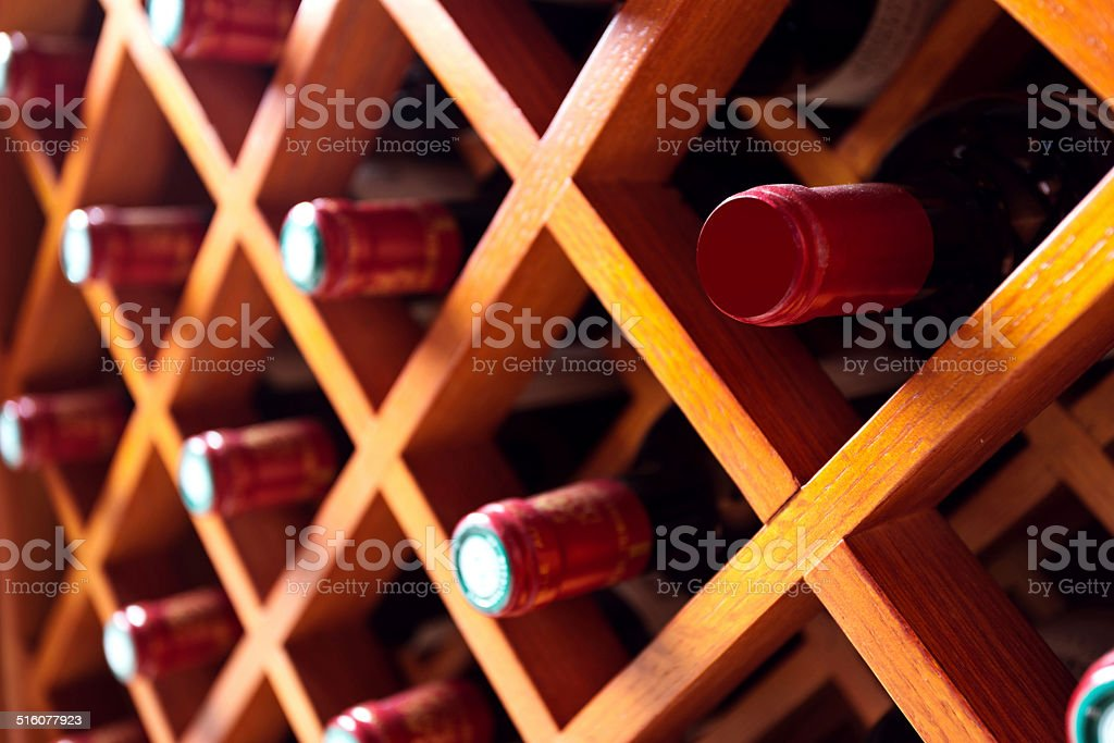 wine cabinet stock photo