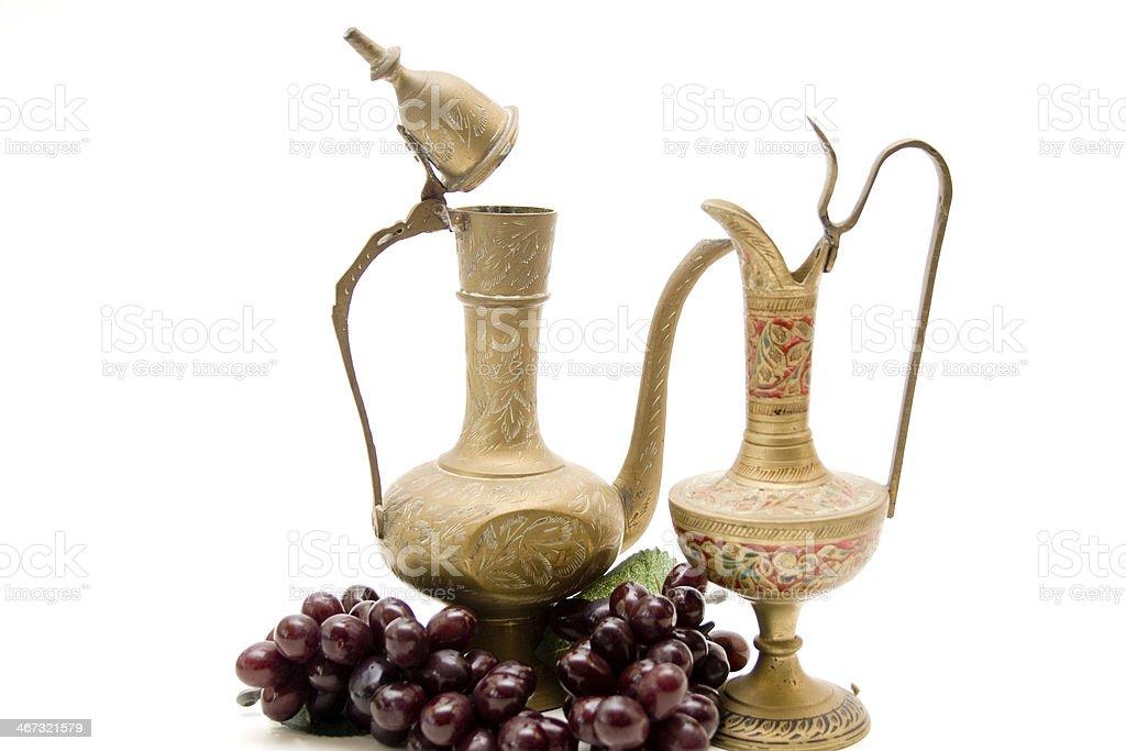 Wine carafes stock photo