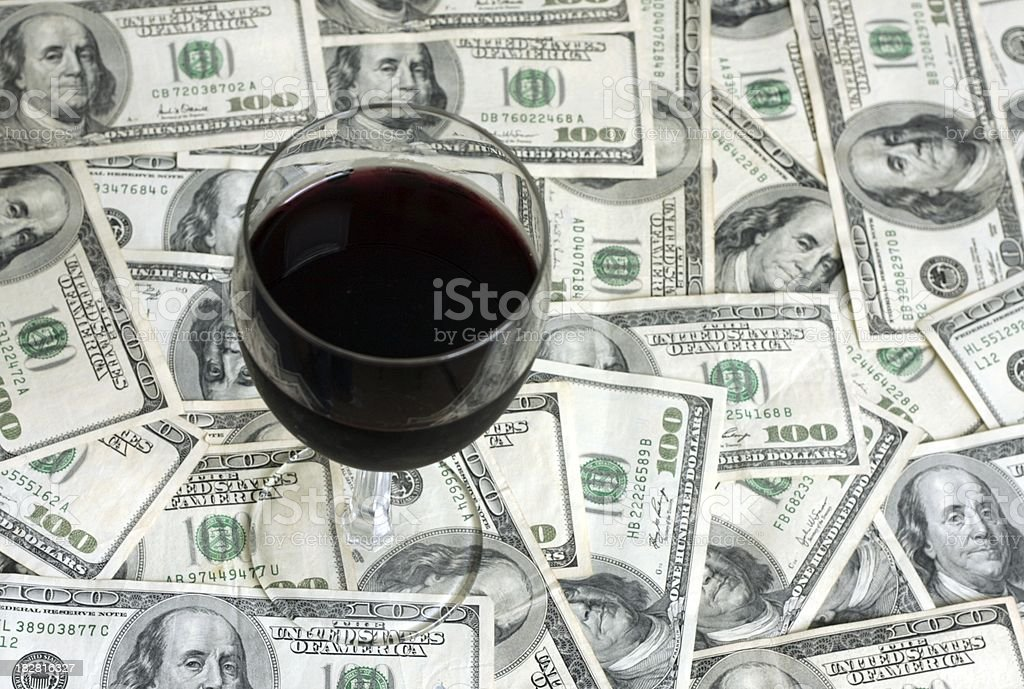 Wine - Cash Background stock photo