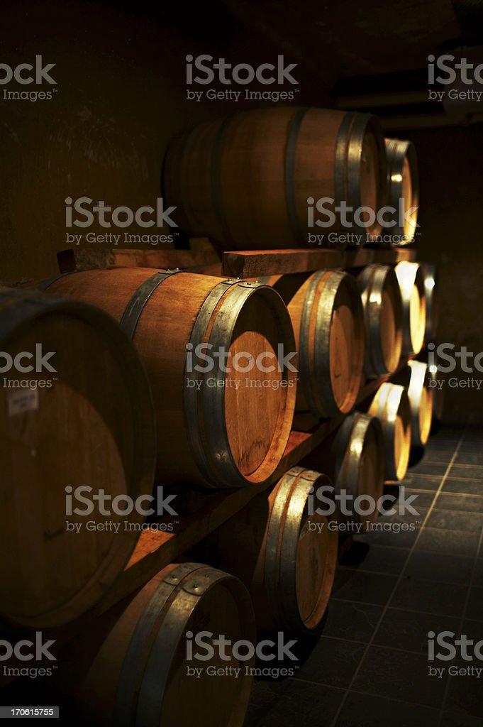 Wine casks royalty-free stock photo