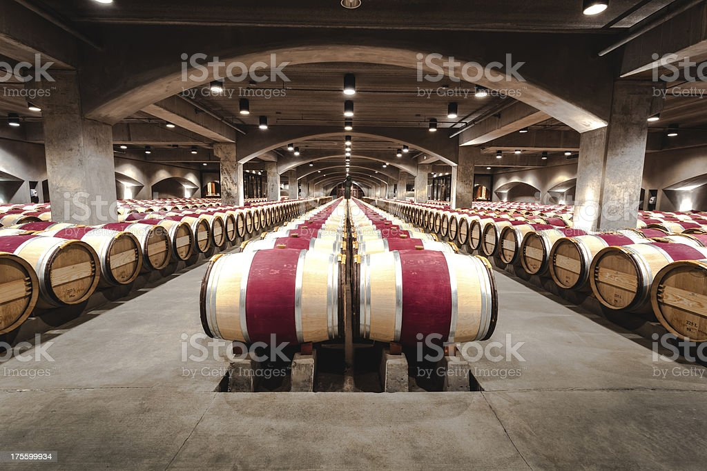 Wine Cave stock photo