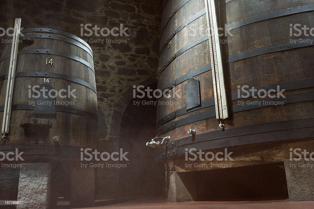 Wine cellar, fermentation stock photo
