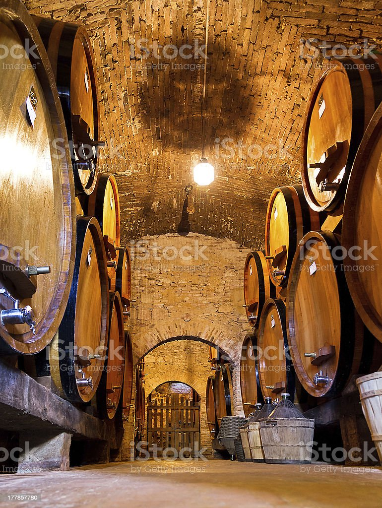 Wine cellar floor royalty-free stock photo